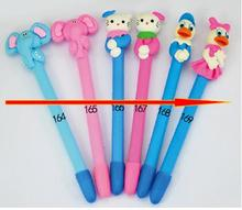 20pcs  High quality Polymer clay kids gift pen arrow style in stock soft ballpoint ,novelty cartoon students ball