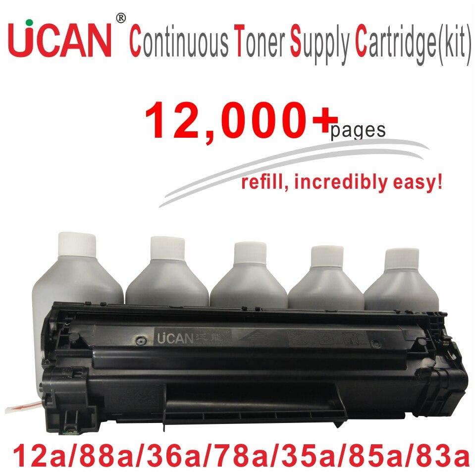 UCAN CTSC(kit) Compatible for HP CE285A CF283A CE278A CB435A CB436A CC388A Q2612A Laser Printer Toner Cartridge