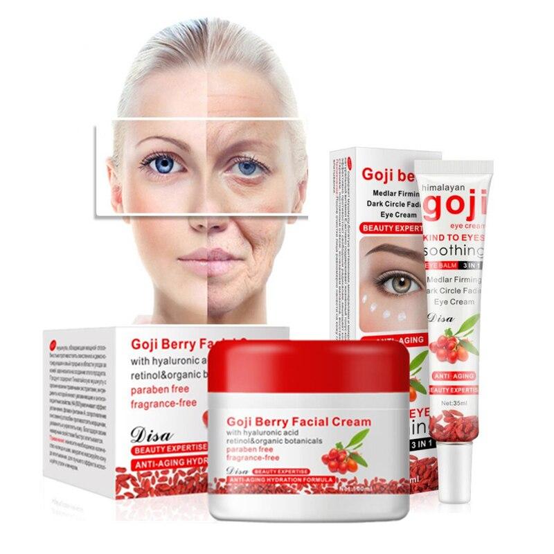 Aichun Goji Crème Blanchissant crème pour le visage Sérum pour le visage Anti-rides crème Hydratant pour le visage + masque pour les yeux patchs pour l'œil
