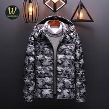 Weargen Men's Winter Jackets 5XL Hooded Parka Men Coats Casual Padded Men's Jackets Male Clothing High Quality Jacket