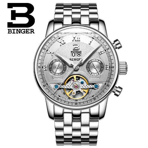 Switzerland Binger Luxury Brand Men font b Military b font Sports font b Watches b font