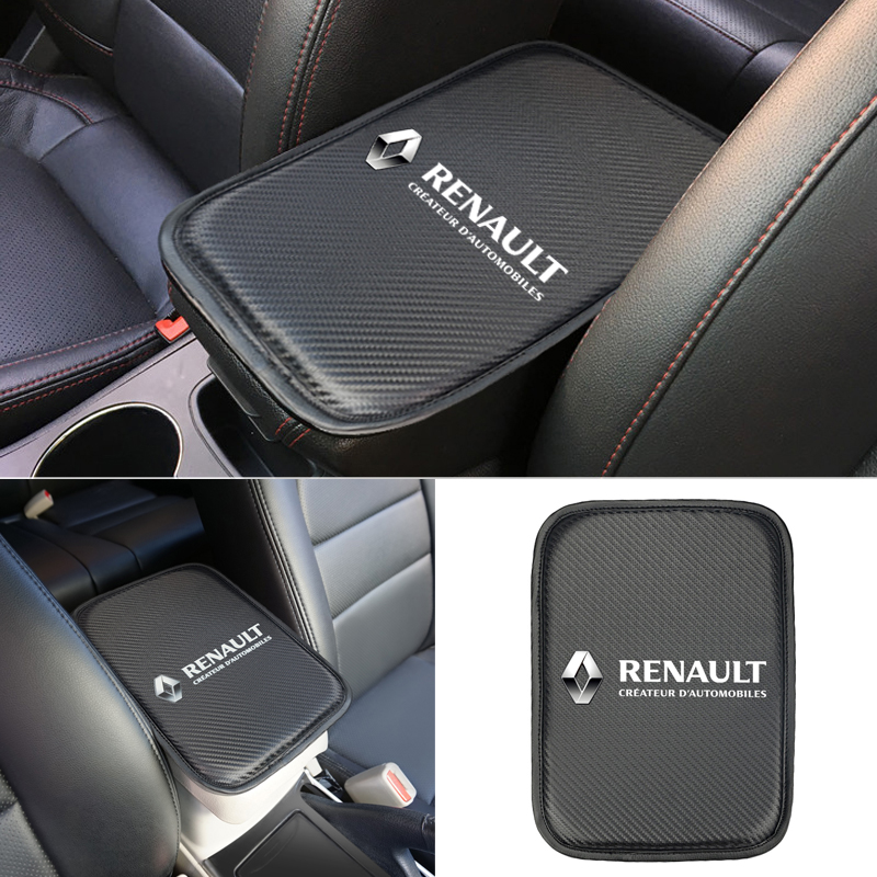 Car Styling For Renault Duster Megane 2 Logan Renault Clio Armrest Console Pad Cover