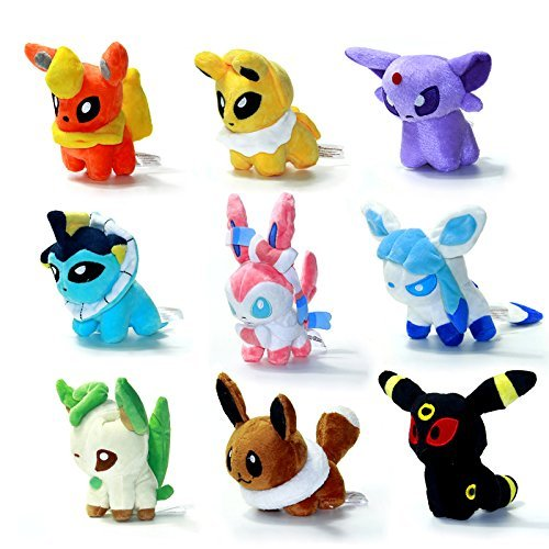 Details About 9 Pcs 5 Plush Toy Doll Eevee Leafeon Umbreon Jolteon Sylveon Set Gift