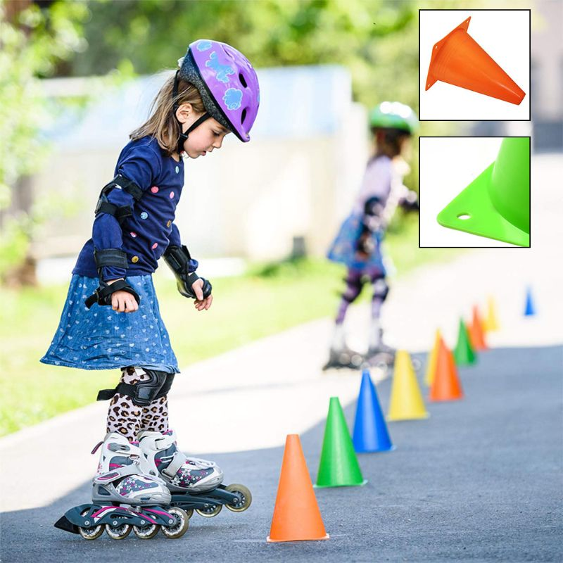(10-Pack)7-Inch Plastic Traffic Cones Multipurpose Construction Theme Party Cones For Various Activities & Events| Perfect