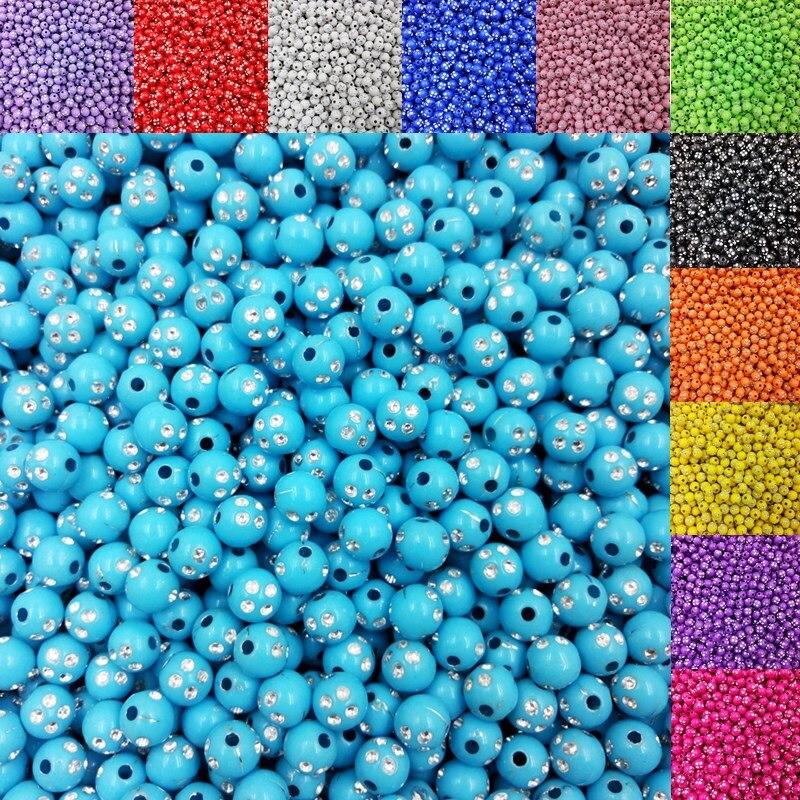 Lnrrabc Лидер продаж 100 шт./лот мм 8 мм блестящие акриловые бусины для изготовления ювелирных изделий DIY браслет цепочки и ожерелья