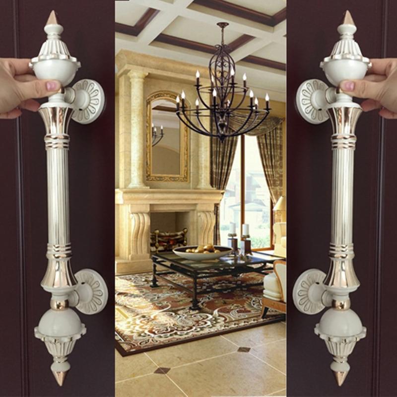 1pcs upscale European Handles Antique Villa Archaize handle for Wooden Door Glass KTV/hotel wood door Pull Door Hardware