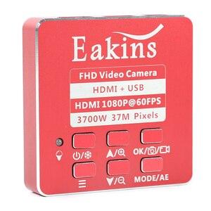 Image 3 - Microscope et caméra enregistreur vidéo, 37mp 1080P HDMI USB, lentille 180X 300X c mount pour le soudage de PCB