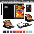"Premium Pu Leather Stand Folio Case Cover For Lenovo Yoga Tablet 3 Pro 10 10.1"" X90f, Elastic Hand Strap,Multi-Angle/Card Holder"