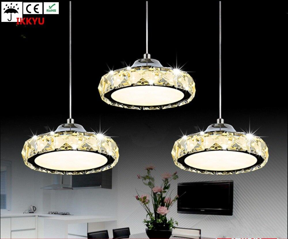 Restaurant font b chandelier b font three crystal lamp simple modern font b table b font