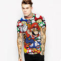 Spring And Summer 3D Mario Cartoon Printing T-Shirt Men's Sexy T Shirt Novelty Casual Men And Women Tops