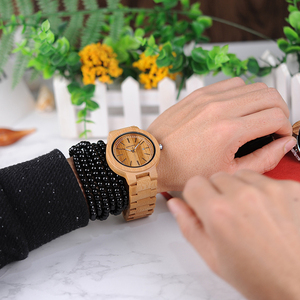Image 5 - BOBO BIRD LP23 Drop Shipping Designer Bamboo Wooden Watches Men with Stainless Steel Clasp Quartz Relogio in Box