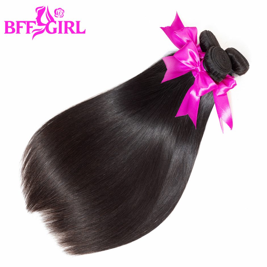 BFF GIRL Silky Malaysian Straight Human Hair Bundles 3pcs/lot 300g 10-26 Inch Natural Black Color Non Remy Hair Weaves Extension