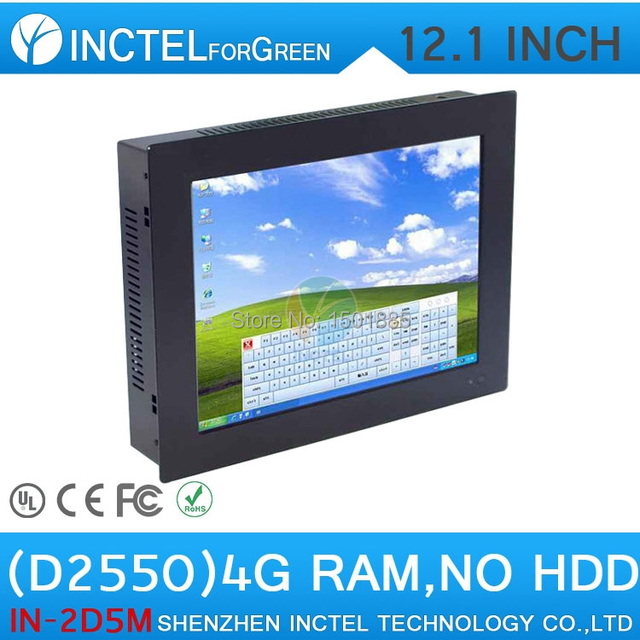 Hottest embedded 12 inch touchscreen computer using high-temperature ultra thin panel pc 4G RAM ONLY