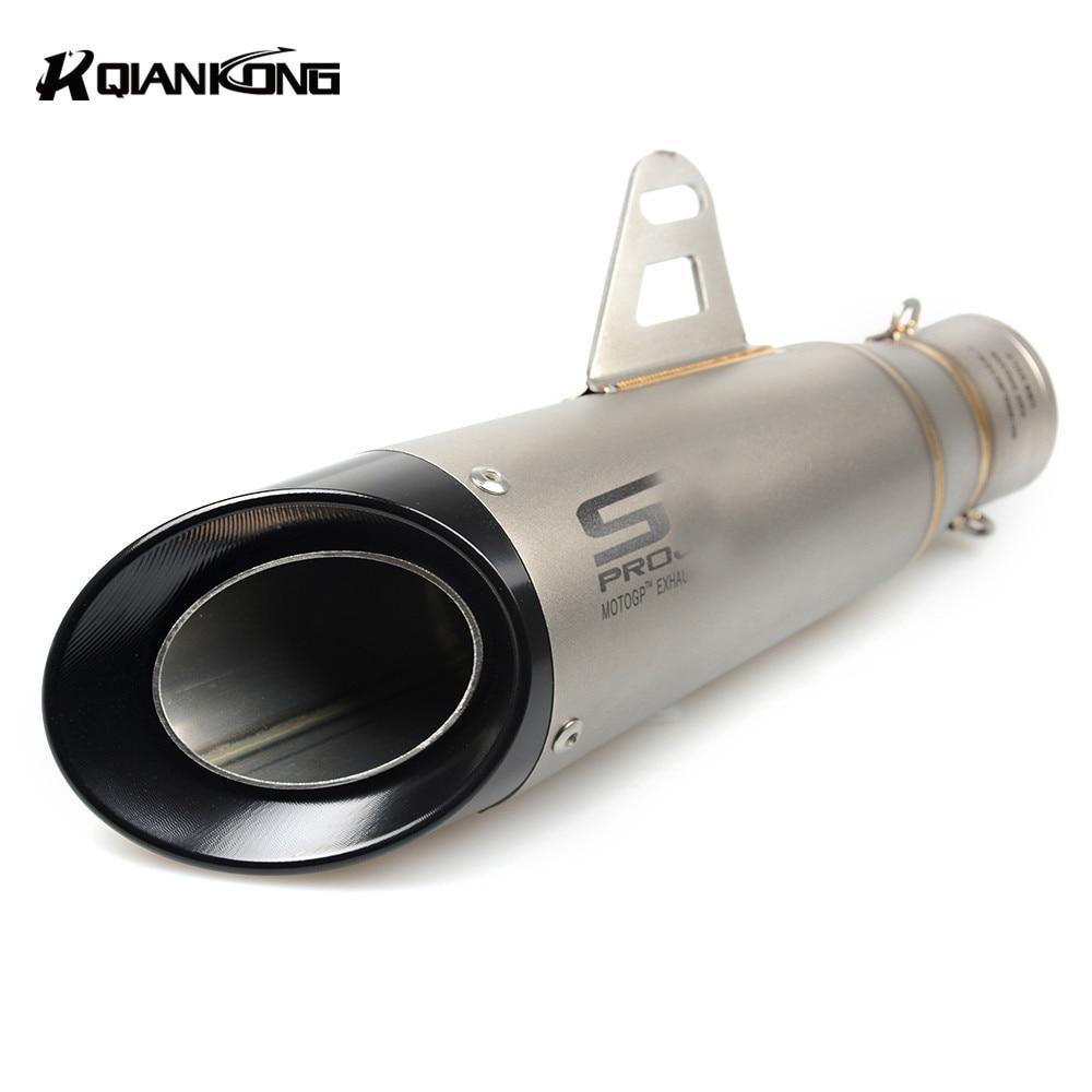 цена на  51mm Universal Modified Motorcycle Exhaust Pipe Muffler FOR Suzuki gsxr600 gsxr750 2004 2005 gsx-r600 gsx-r750 HODNA CB500 CB600