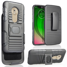 Case For Motorola Moto G7 Play (EU Version) Heavy Duty Magnetic Ring Stand Rugged Case With Belt Clip Holster Shockproof Cover waterproof rugged mobile device protection holster case with clip