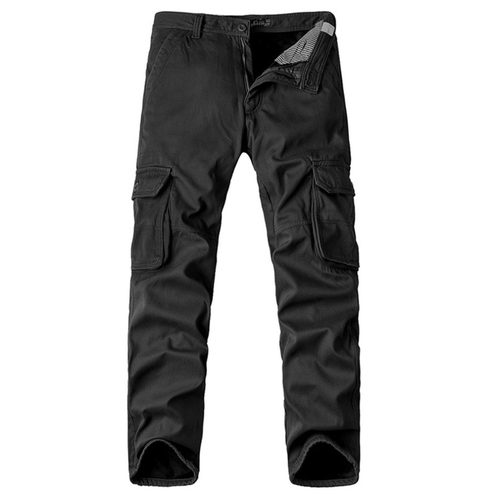 Luxury Brand Man Multi-pocket Long Military Pants Male Work Cargo Overalls Loose Camouflage Pants Leisure Straight Trousers
