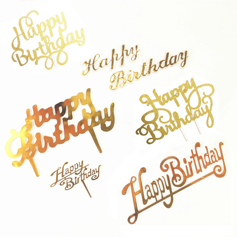 Cake Topper Party Creative Happy Birthday Cake Small Flags