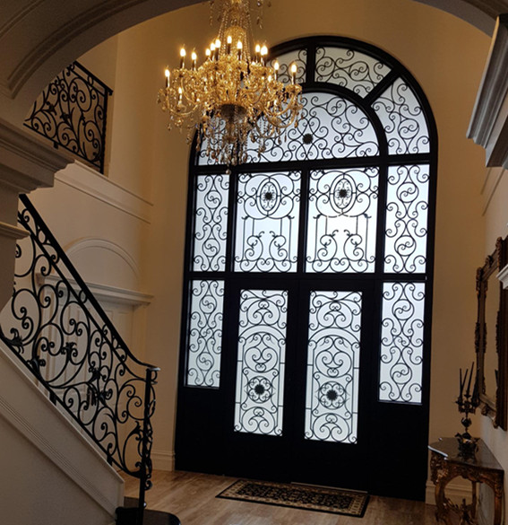 Wholesale Wrought Iron Doors Iron Double Doors Iron Doors Iron Front Doors For Sale  Hc1