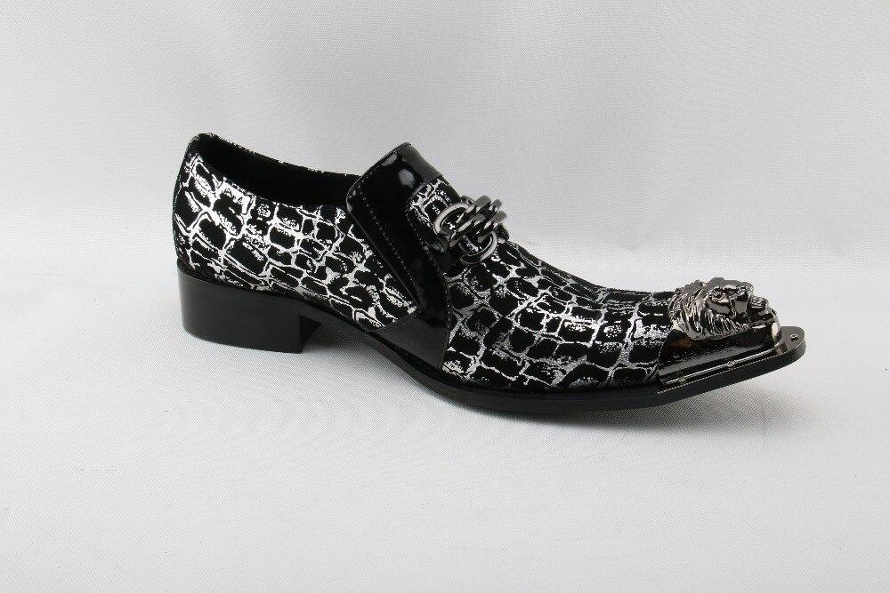Couro Aço Para Cravado Sapatos Pointy Dedo De Mocassins Zapatos Escondido Do Salto Pé Zobairou As Picture Hombre Luxo Oxford Mocassim Homens ZYIqg
