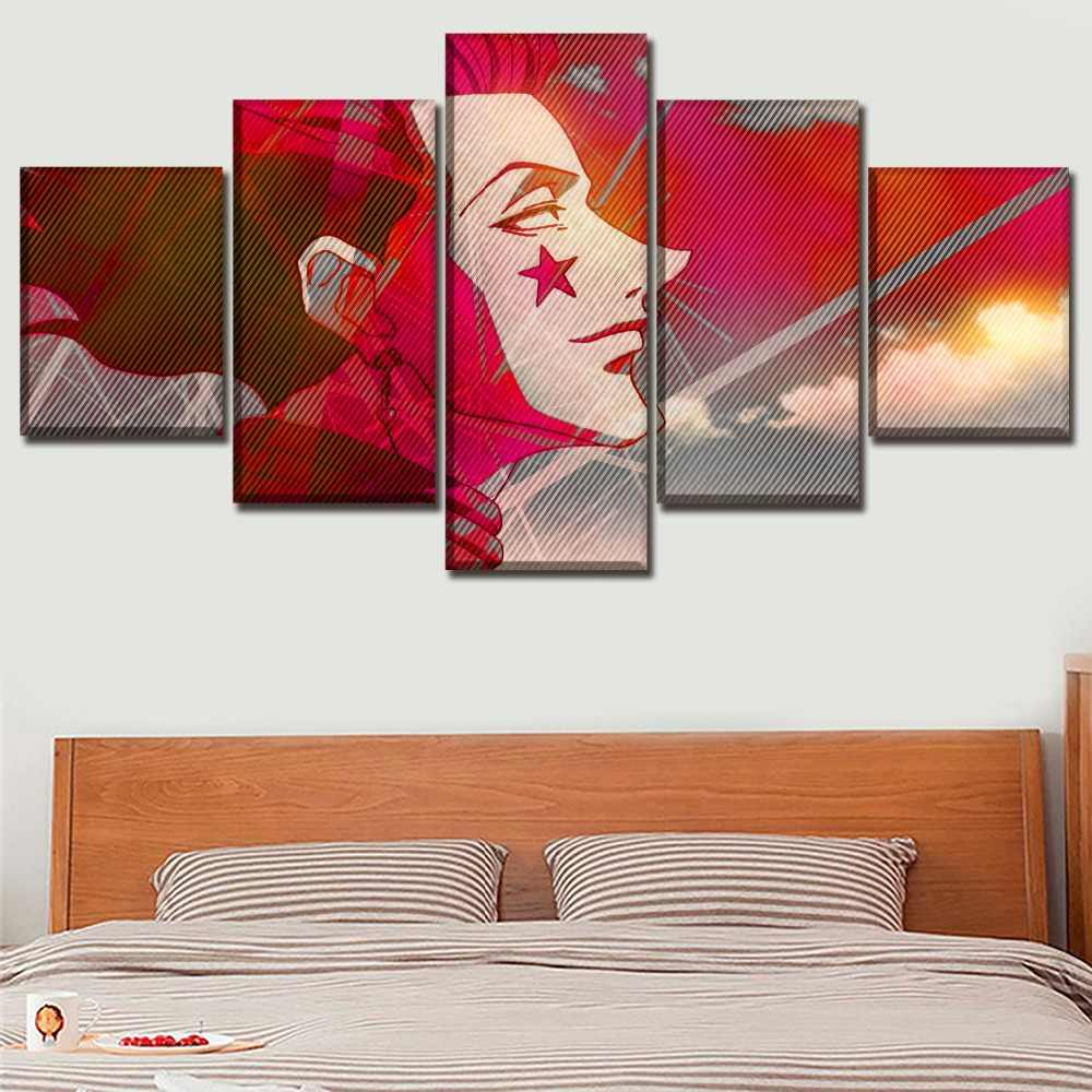Modular Pictures Home Decorative 5 Piece Anime Hunter x Hunter Hisoka Poster Wall Art Bedroom Living Room Canvas Print Painting