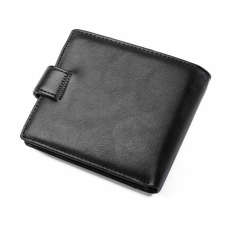 Бренд дизайн, высочайшее качество спилок большой размер новые мужские короткие кошелек клатч с карманом для монет люкс Двойные Кошелек мужские кошельки