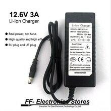 Varicore genuine li-ion carregador da fonte de alimentação 12 v 3a/12.6 v 3a ac 100-240 v Conversor adaptador plug Ue e os eua plug Para bateria par
