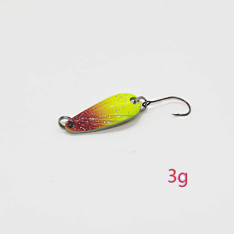 1 piezas de oro de Metal plata lentejuelas Señuelos de Pesca señuelo cuchara Pesca Wobblers cebos Spinner cebos duros bajo Pike Pesca