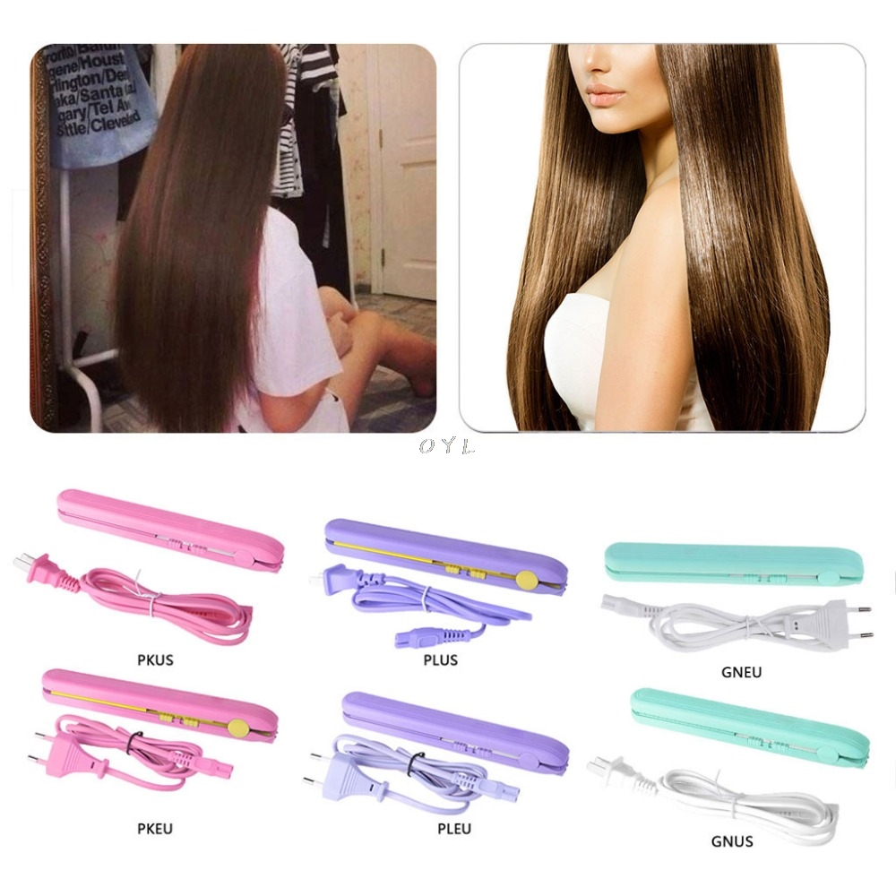 Mini Portable Hair Straightener Curler 2 In 1 30W Travel  Tourmaline Ceramics Plate Flat Iron Cordless Styler US EU PlugMini Portable Hair Straightener Curler 2 In 1 30W Travel  Tourmaline Ceramics Plate Flat Iron Cordless Styler US EU Plug