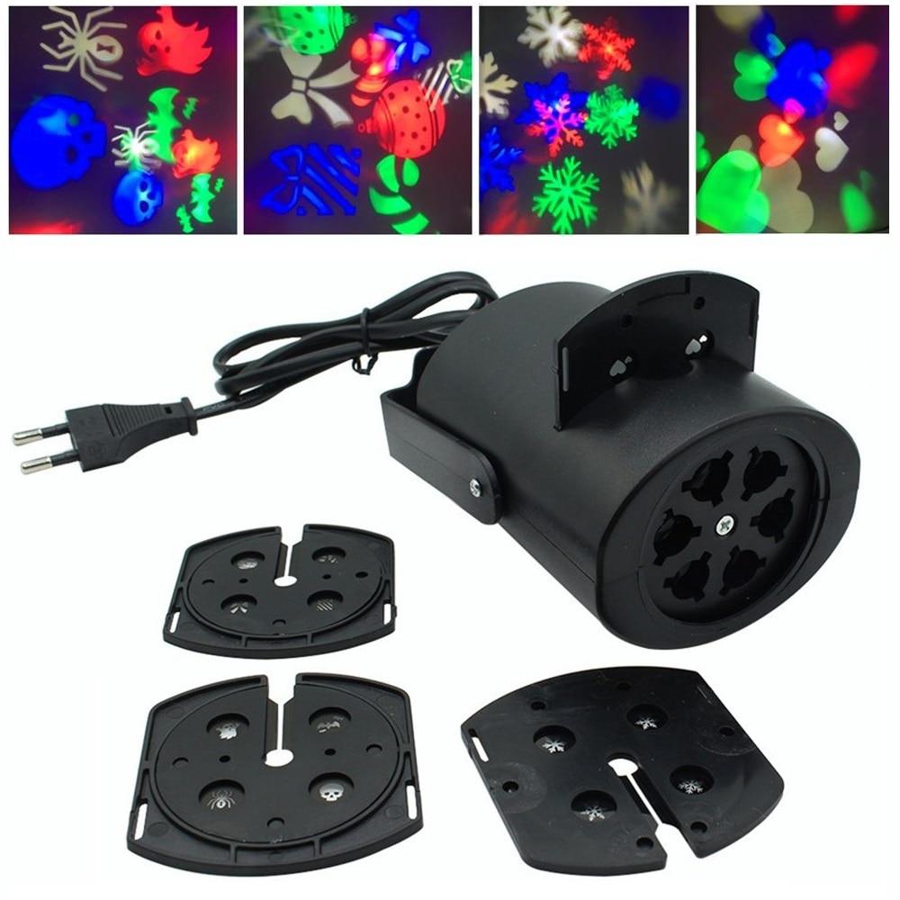 Moving Weihnachten Laser Lichter Schnee Projektor Lampe Schneeflocke LED Party Licht Multicolor Für Weihnachten Urlaub Disco Bühne Lampe