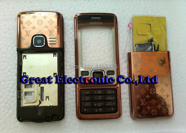 best authentic 12420 43c73 US $6.5 |Brown Full fascia housing for nokia 6300 cellphone repair cover  replacement case body faceplate panel frame+keypad+sapre parts-in Mobile ...