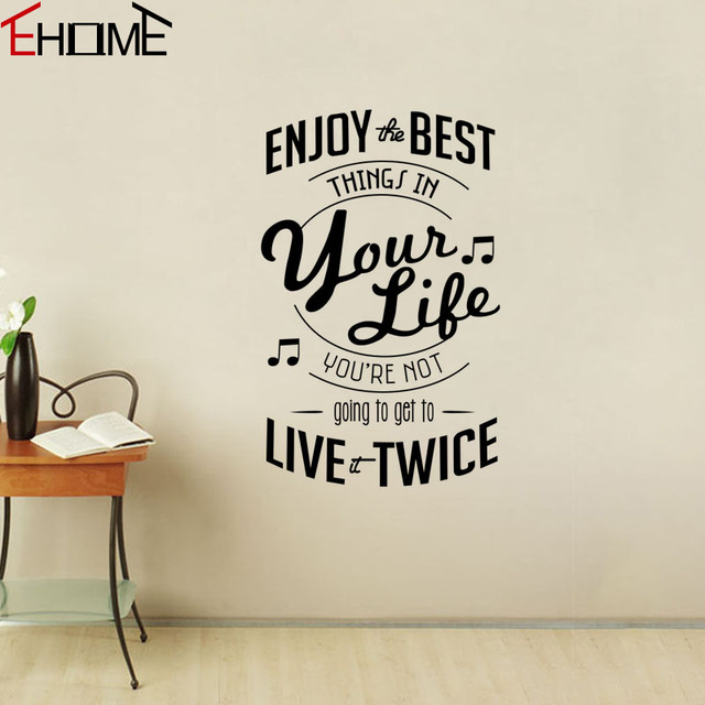enjoy the best things in your life wall decals quotes musical notes