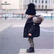 2018 Autumn Winter Baby Boys Jackets Fur collar Kids Jacket Warm Hoodies Children's Outerwear Coat Boys Girls Clothes Clothing цены онлайн