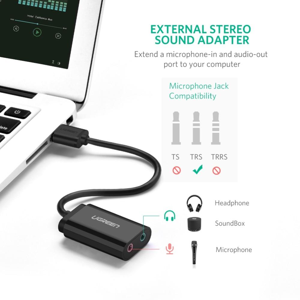 Ugreen Sound Card Արտաքին 3.5 մմ USB ադապտեր USB - Համակարգչային բաղադրիչներ - Լուսանկար 2