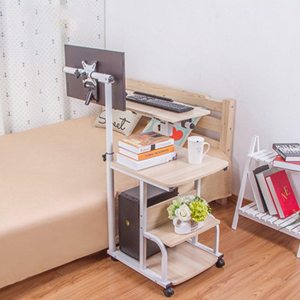 стол с регулируемой высотой портативный стол для ноутбука Портативный Складной Регулируемый стол для ноутбука компьютерный стол на колесиках - 4