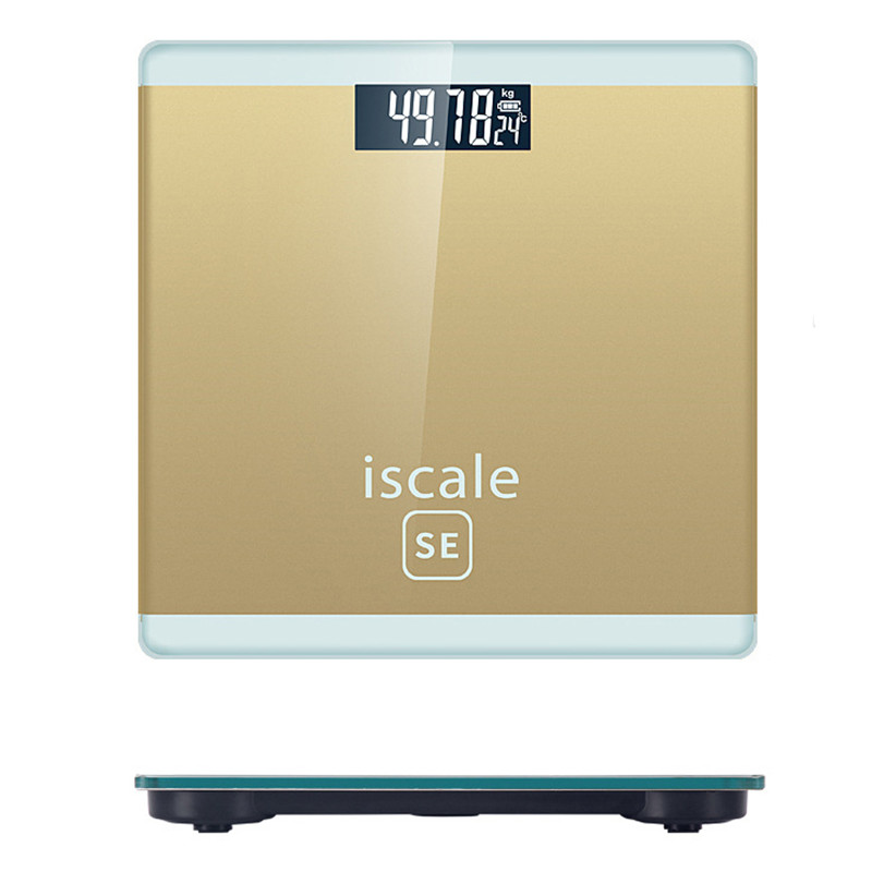 Bathroom Ultra-thin Scale Upgraded Sensor Digital USB Charging Electronic Scale Body Health Fit Weight Scale Body Fat Scale