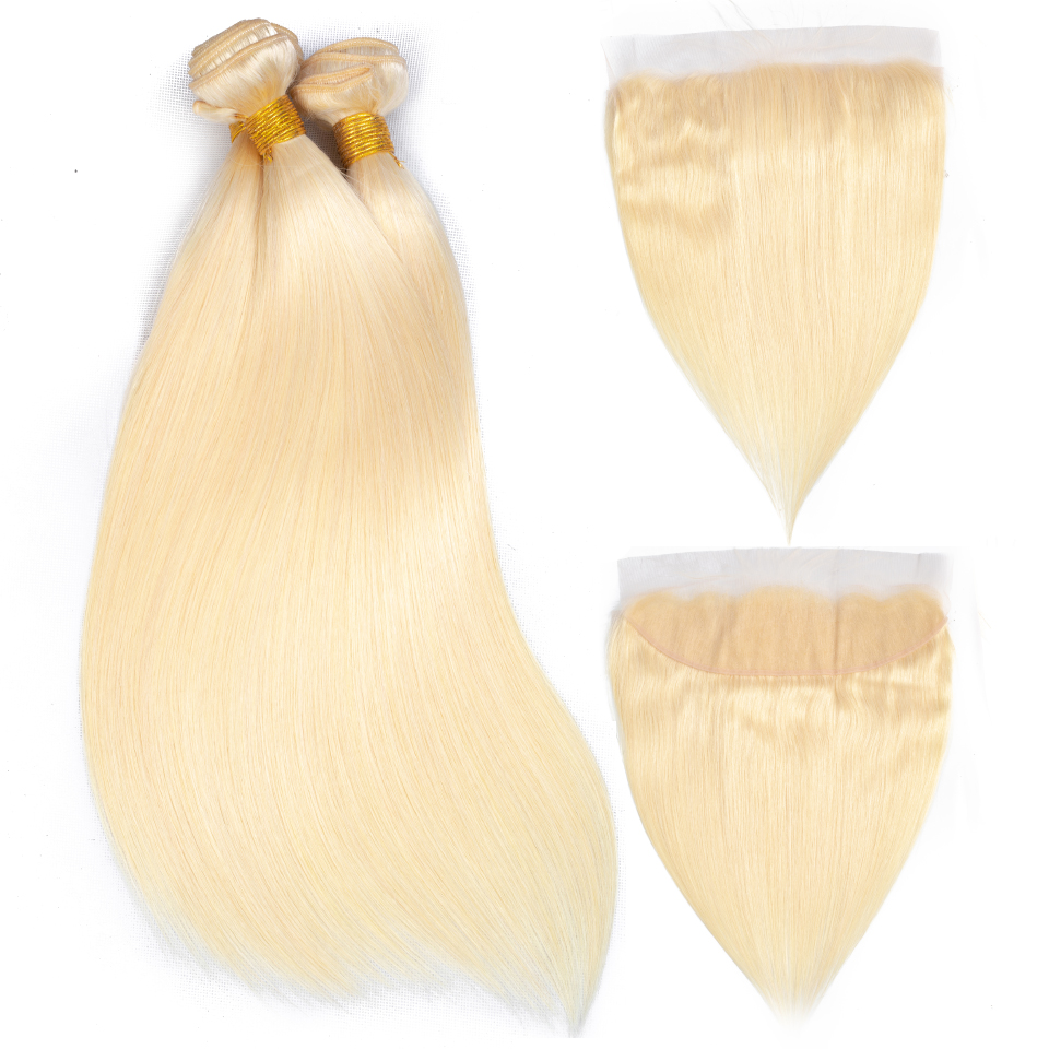 blonde bundles with closure 18