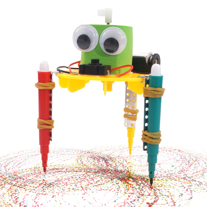 Early Learning DIY Doodle Robot Technology Small Inventions Educational Toys For Kids Primary And Secondary Science Experiment