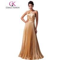 Free Shipping 1pc Lot The Most Beautiful Luxury Grace Karin Designer Long Golden Formal Evening Wedding