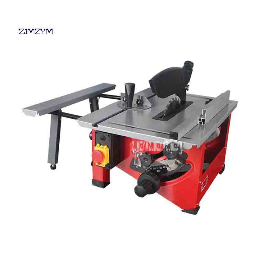 цена на ZJMZYM 8 Sliding Woodworking Table Saw Electric Wood Circular Saw 24 Tooth Saw Blade Sawing Machine With Extension Board 900W