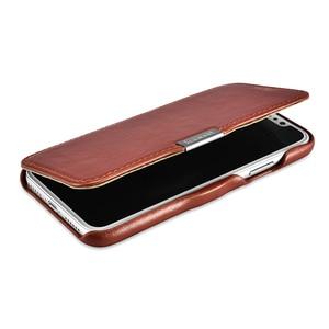Image 4 - יוקרה אמיתי עור מתכת לוגו מגנטי Flip מקרה עבור iPhone X XS XS MAX XR כיסוי Coque מקורי טלפון סלולרי מקרי אביזרים