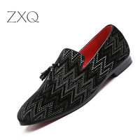 Popular Black Loafer Men Tassel Leather Flats Gentleman Fashion Party Shoes Men Nightclub Driving Shoes Drop Shipping