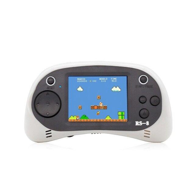 RS 8 Console de jeu portable pour enfants construit en 260 classique vieux jeux vidéo 2.5Lcd rétro Arcade joueur de jeu TV sur cadeau danniversaire