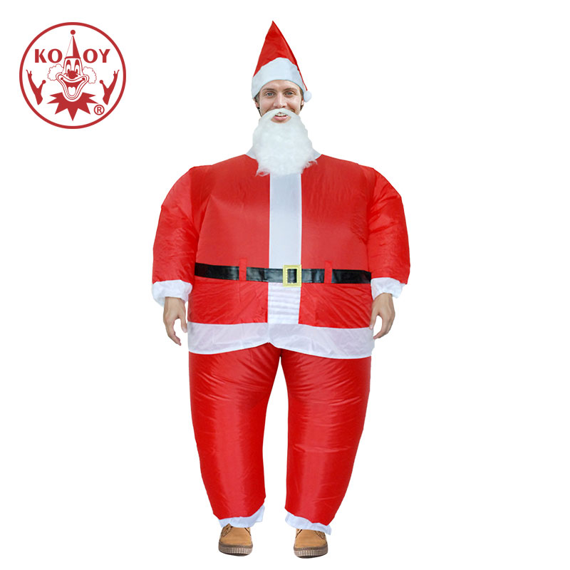 Halloween Christmas Inflatable Father Christmas Costume Adult Fancy Dress Costume Santa Claus Stag Hen Night Party