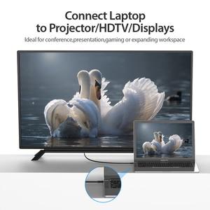 Image 2 - Tions USB C HDMI 4K Typ C zu HDMI Kabel HDMI Adapter für Huawei P20 Mate 10 Pro MacBook pro Air ipad Pro Thunderbolt 3 1m 2m