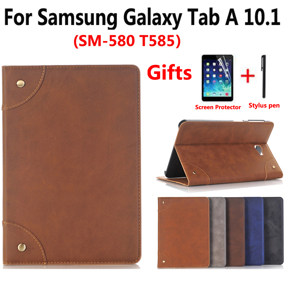 Leather Case For Samsung Galaxy Tab A A6 10.1 2016 SM-T580 SM-T585 High Quality Cover Case for Samsung T580 T580N T585 T585N аксессуар чехол для samsung galaxy tab a t585 10 1 cross case el 4023 blue
