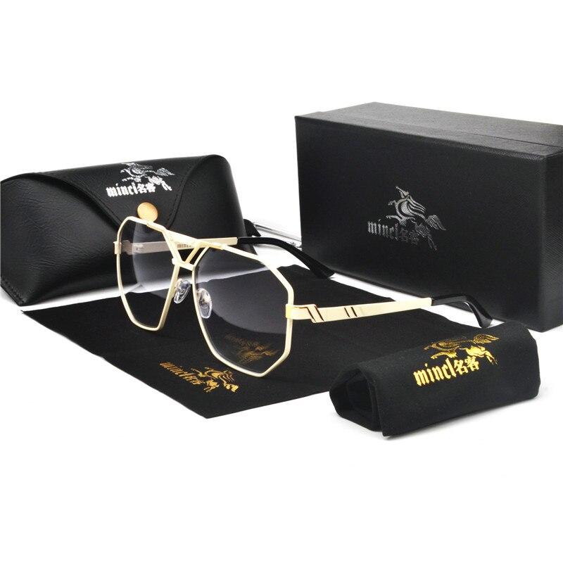 MINCL/New Style 2019 Luxury Brand Designer Sunglasses Men Vintage Oversized Glasses Man NX 2