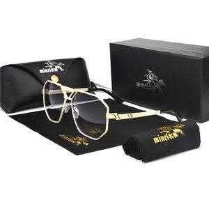 Image 5 - MINCL/yeni stil 2019 lüks marka tasarımcısı güneş gözlüğü erkekler kadınlar Vintage büyük boy gözlük adam NX