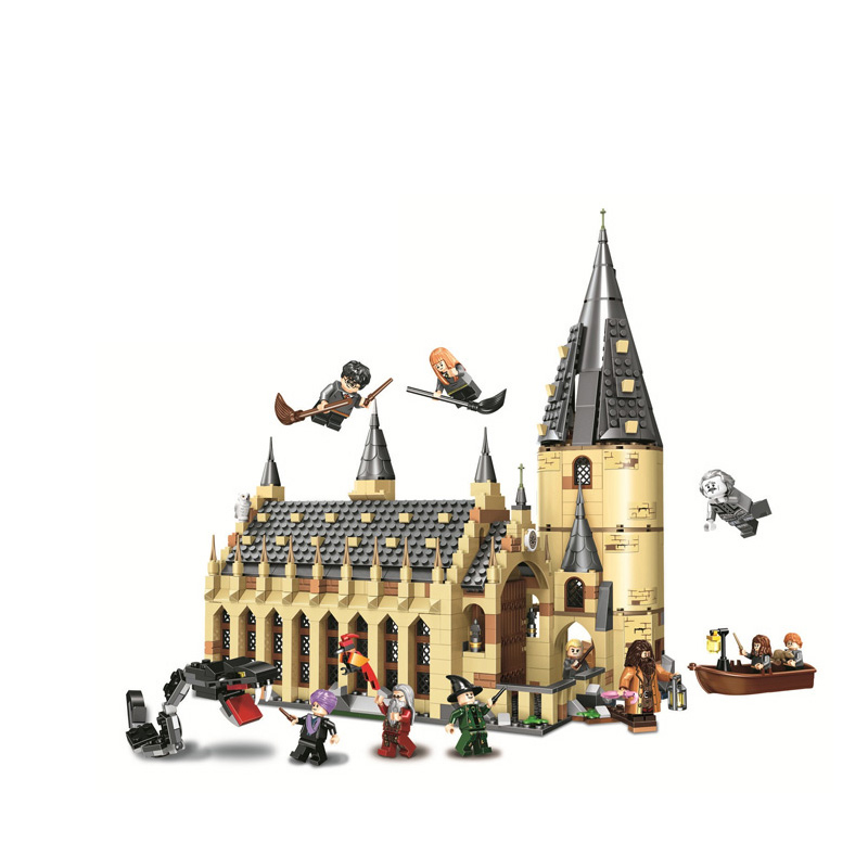 New Harry Potter Serices Hogwarts Great Hall Compatibility Legoing 75954 Set Model Building Blocks Bricks Toys Gift ChristmasNew Harry Potter Serices Hogwarts Great Hall Compatibility Legoing 75954 Set Model Building Blocks Bricks Toys Gift Christmas