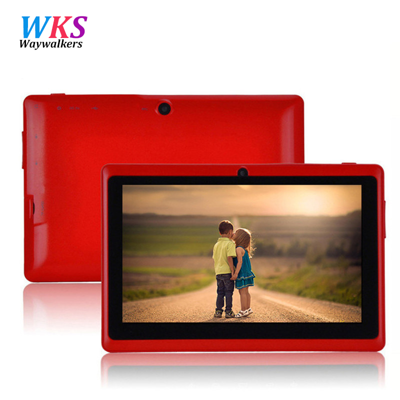 Big sale!!! 7 Android 4.4 Q88 ProAllwinner A33 Quad Core 512MB/8GB 1024*600 Dual Camera Bluetooth WIFI Android tablet pc yuntab7 inch quad core q88 1 5ghz android 4 4 tablet pc q88 allwinner a33 512mb 8gb capacitive screen 1024x600 dual camera wifi