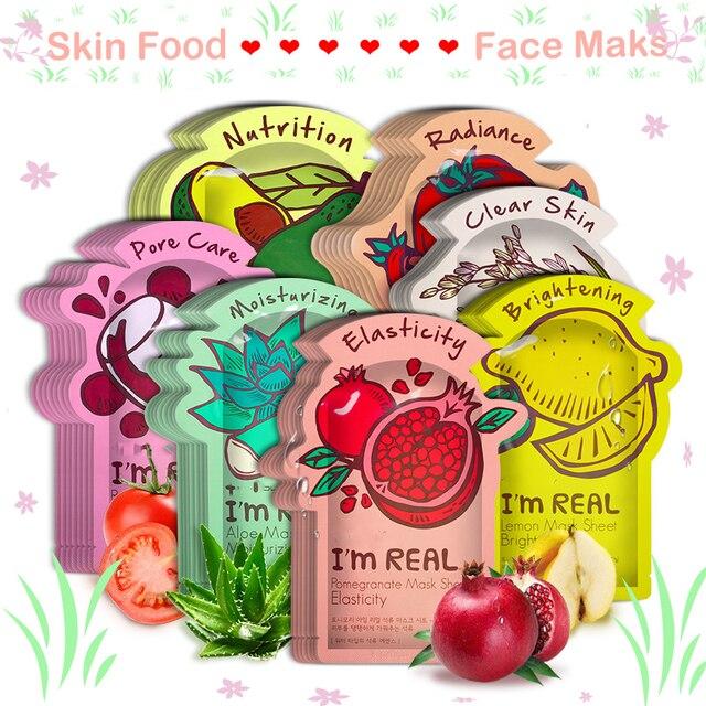 15 colores soy REAL Tony moly mascarilla Facial hidratante Control de aceite Anti-envejecimiento contracción poros coreano hoja Facial máscara cosméticos
